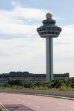 Tour de contrôle d'aéroport de Changi Images libres de droits