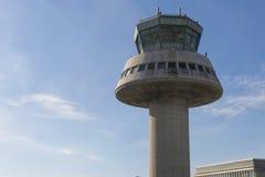 Tour de contrôle dans l'aéroport de Barcelone, Catalogne, Espagne Photographie stock