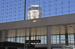 Tour de contrôle, aéroport de Malaga, Espagne Photographie stock libre de droits