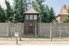 Tour de contrôle Auschwitz Pologne photos stock