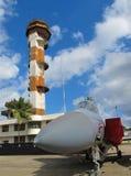 Tour de contrôle d'air d'île de Ford - aigle de F15A Photographie stock libre de droits