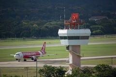 Tour de contrôle d'air d'aéroport international de Chiangmai Photo stock