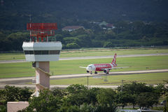 Tour de contrôle d'air d'aéroport international de Chiangmai Images libres de droits