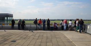 Tour de contrôle dans l'aéroport Image libre de droits