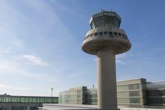 Tour de contrôle dans l'aéroport de Barcelone, Catalogne, Espagne Images libres de droits