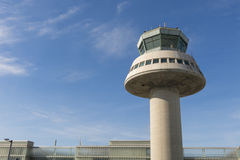 Tour de contrôle dans l'aéroport de Barcelone, Catalogne, Espagne Photo stock