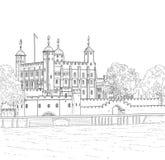 Tour de dessin de Londres Images stock