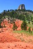 Tour de diables au Wyoming du nord-est photographie stock