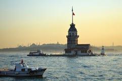 Tour de fille, une photo d'Istanbul Photographie stock