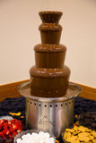 Tour de Fondu de chocolat au mariage Photo libre de droits
