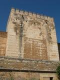 Tour de forteresse d'Alhambra en Espagne Images stock