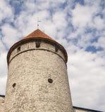 Tour de forteresse dans vieux Tallin Images stock