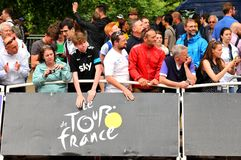 Tour de France à Londres, R-U Photo stock