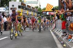 Tour de France 2009 di Le - intorno a 4 Fotografia Stock Libera da Diritti