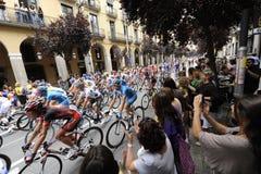 Tour de France 2009, Girona à l'étape de Barcelone Image libre de droits
