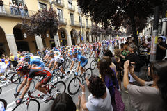 Tour de France 2009, Girona alla fase di Barcellona Immagine Stock Libera da Diritti