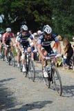 Tour de France 2010 auf den Kopfsteinen Lizenzfreie Stockfotos