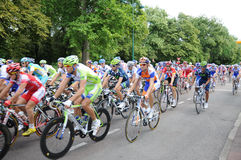 Tour de France 2011 im Endstadium Stockbild