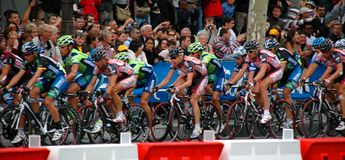 Tour de France. Final stage in Paris on the champs elysee 2007 Cadel Evans Stock Photos