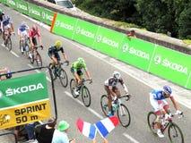 Tour de France 2015 - Aubenas, Francia Fotos de archivo libres de regalías