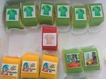 Tour de France cake. Colourful cake to celebrate tour de France Royalty Free Stock Photos
