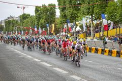 Tour de France Champs-Elysees 2017 Photos libres de droits
