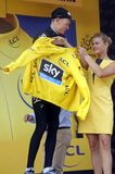 Tour de France 2015 de Christopher Froome Equipe Team Sky Fotos de archivo libres de regalías