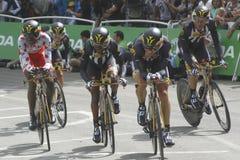 Tour de France 2015 de Equipe MTN QHUBEKA Fotografía de archivo libre de regalías