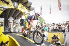 102. Tour de France - det Tid försöket - första etapp Royaltyfria Foton