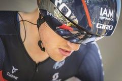 102. Tour de France - det Tid försöket - första etapp Arkivfoto