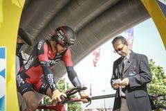 102. Tour de France - det Tid försöket - första etapp Royaltyfri Bild