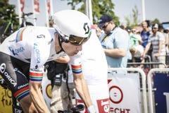 102. Tour de France - det Tid försöket - första etapp Royaltyfri Fotografi