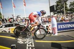 102. Tour de France - det Tid försöket - första etapp Arkivbild
