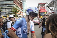 102. Tour de France - det Tid försöket - första etapp Royaltyfri Foto