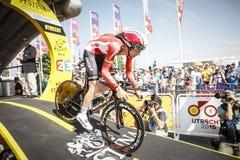 102. Tour de France - det Tid försöket - första etapp Arkivbilder
