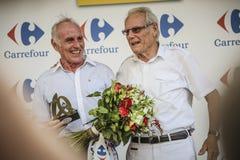 102. Tour de France - det Tid försöket - första etapp arkivfoton