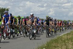 Tour de France 2014 a Duxford Immagini Stock Libere da Diritti
