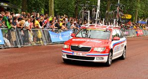 Tour de France em Londres, Reino Unido Fotografia de Stock Royalty Free