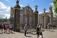 Tour De France. Gate of Green park, near the Buckingham Palace Royalty Free Stock Image
