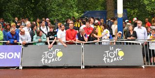 Tour de France i London, UK Royaltyfria Foton