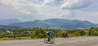 Tour De France krajobraz Zdjęcia Royalty Free
