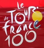 Tour de France 100 logo Royalty Free Stock Image