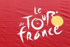 Tour de France logo on a truck Stock Images