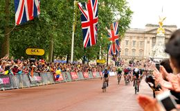 Tour de France a Londra, Regno Unito Fotografia Stock