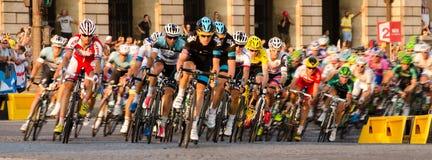 Tour de France Pelloton Lizenzfreie Stockbilder
