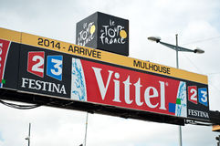 Tour De France - przyjazd linia Zdjęcia Royalty Free