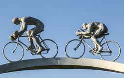 """Tour de France in the Pyrenees"" Sculpture- Detail stock photo"