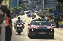 Tour de france 2016 route stage 17: Bern swi – Finhaut Emosson (swi) Stock Photo