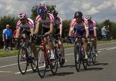 Tour de France 2014 ryttare royaltyfria foton