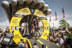 102. Tour de France - Zeitfahren - erste Phase Stockbilder